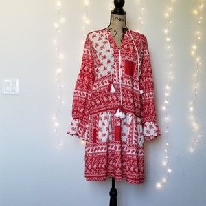 Eloquii Dresses - Eloquii Gathered Long Sleeve Boho Dress